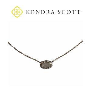 Kendra Scott Chelsea Iridescent Drusy Necklace